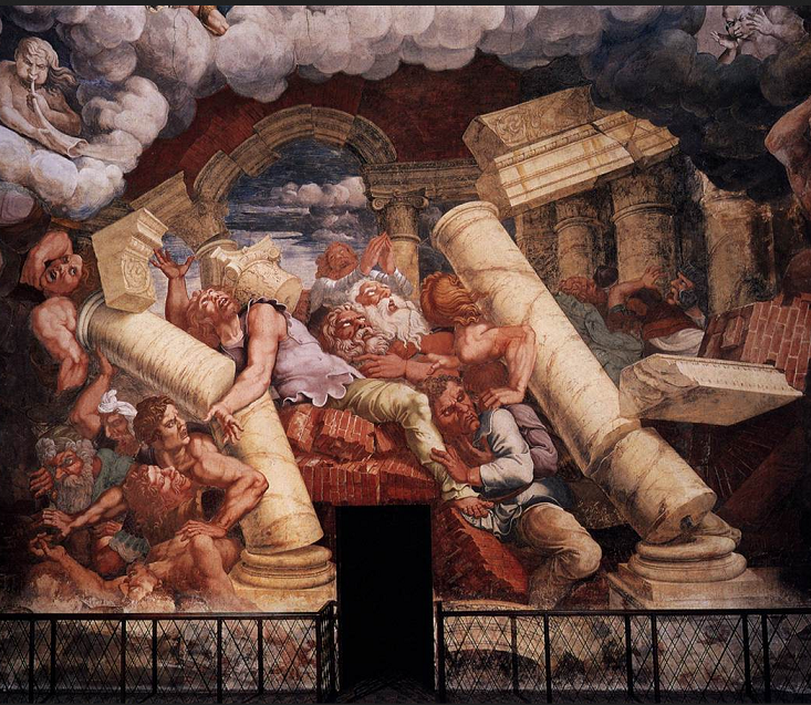 Giulio Romano. Palazzo Gonzaga. Sala dei giganti. 004